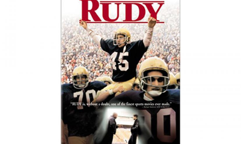 It's the classic underdog football movie! Get Rudy for 46% off!