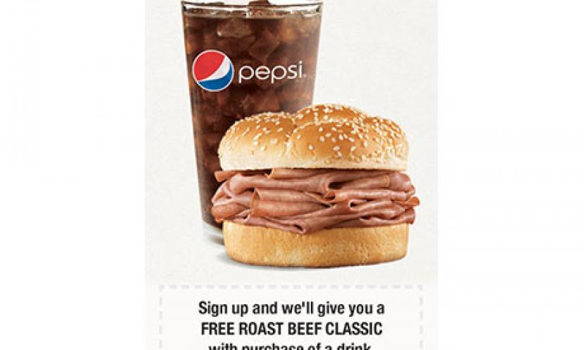 FREE Roast Beef Classic from Arby's!