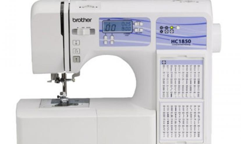 The Brother Computerized Sewing and Quilting Machine is now 60% Off!