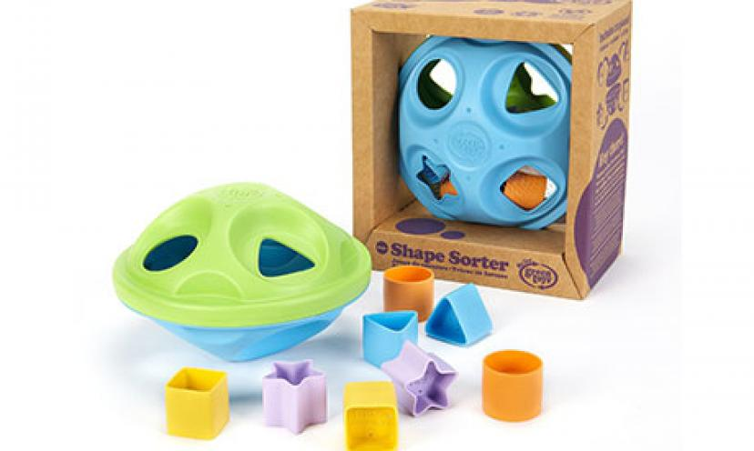 Save 13% Off on My First Green Toys Shape Sorter!