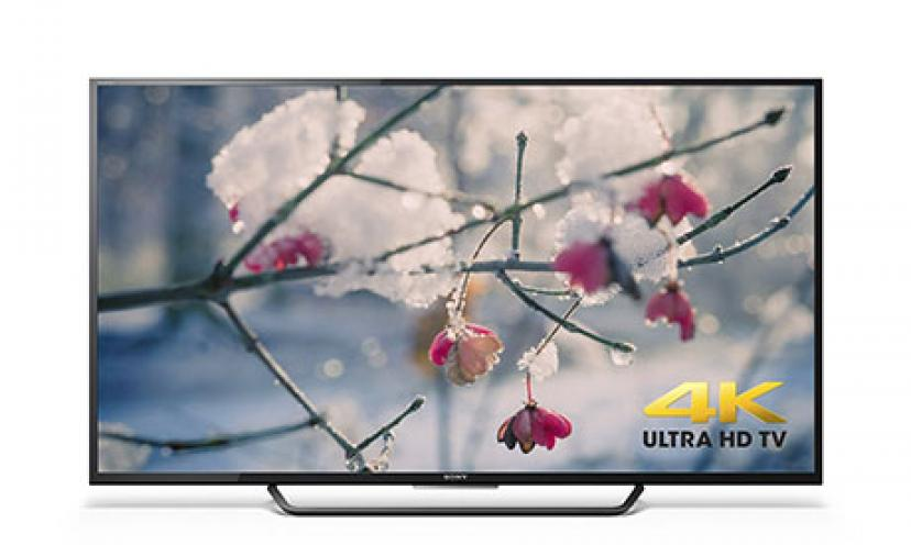 Save $300 Off The Sony 55-Inch 4K Ultra HD Smart LED TV!