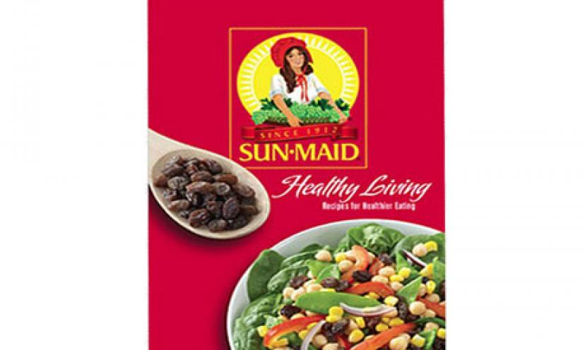 Get your FREE copy of Sun-Maid's Healthy Living Recipe Booklet