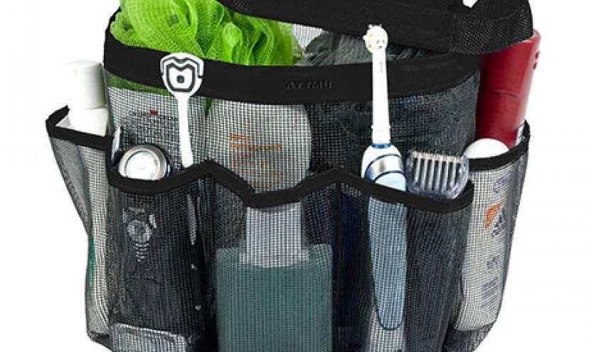 Get 60% Off on Attmu Oxford Mesh Shower Tote Bag Black!