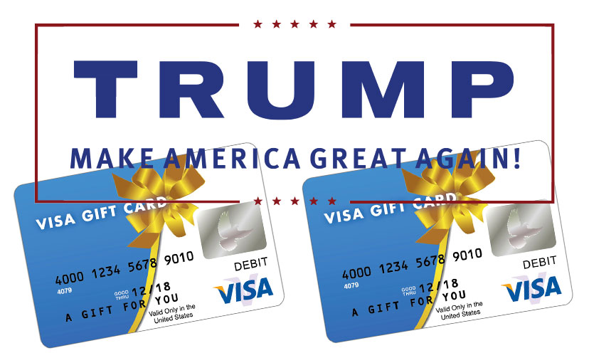 Get a Visa Gift Card By Telling Us If Trump is Fit to be President!