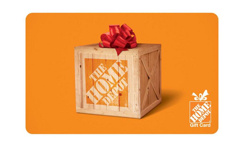 Get a $100 Home Depot Gift Card!