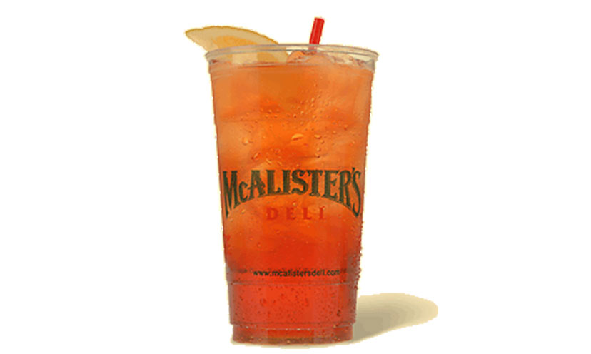 Get a FREE 32 ounce Sweet Tea from McAlister's!