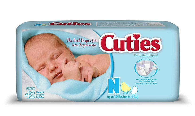 Get a FREE Cuties Diaper Sample!