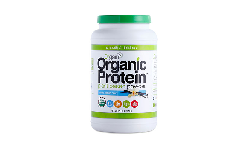 Get a FREE Sample of Orgain Protein Powder!