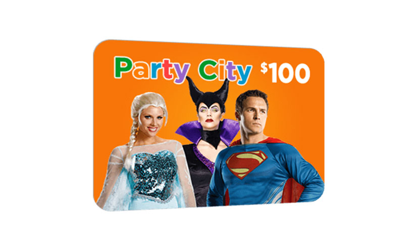 Get a $100 Party City Gift Card!