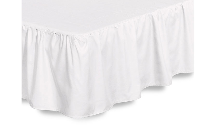 Save 64% on a Microfiber Bed Ruffle Skirt!