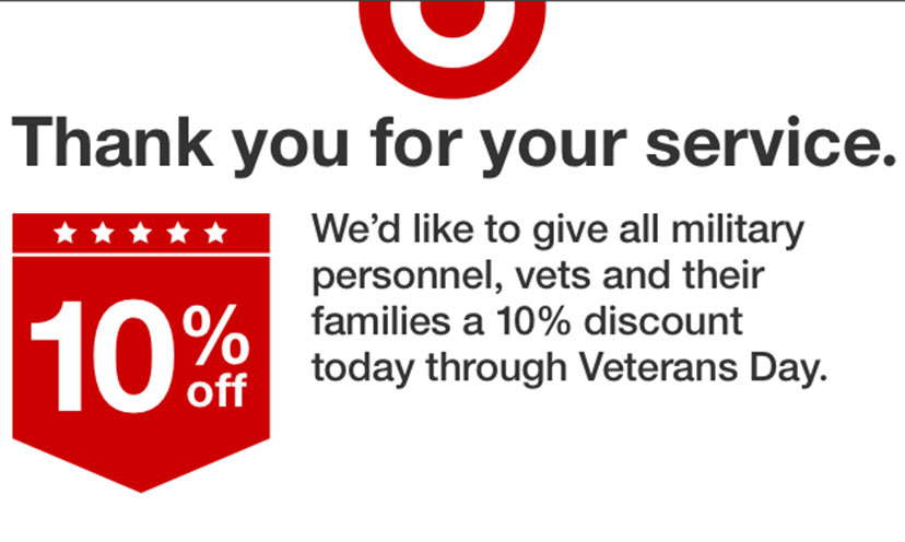 Veterans Can Save 10% off at Target This Week!