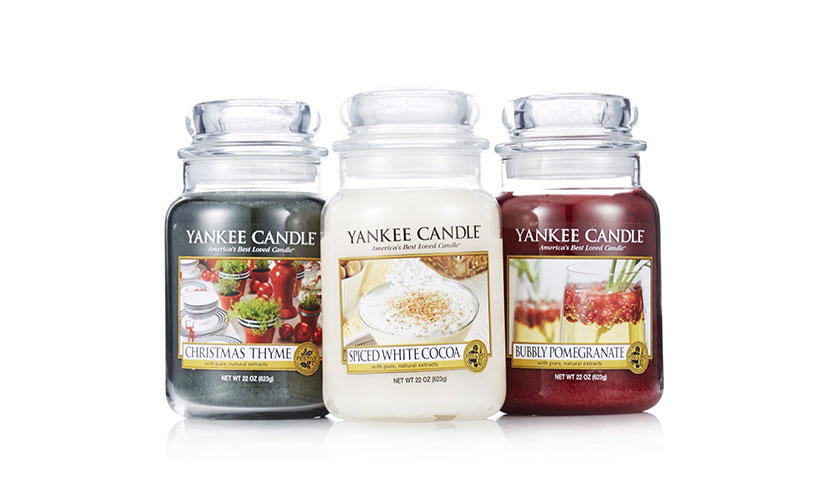 Save up to 75% off Yankee Candles!