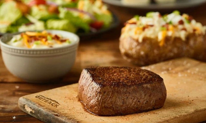 Save $5.00 off Two Outback Dinner Entrées!