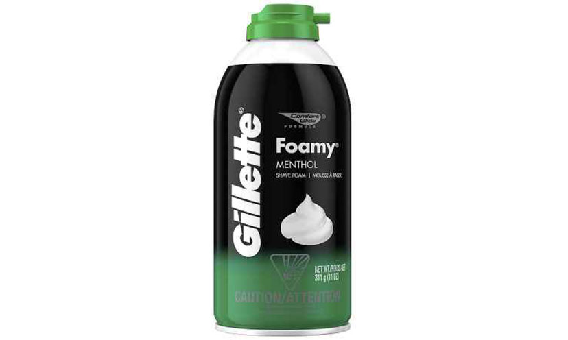 Get A FREE Can of Gillette Foamy Shave Cream!