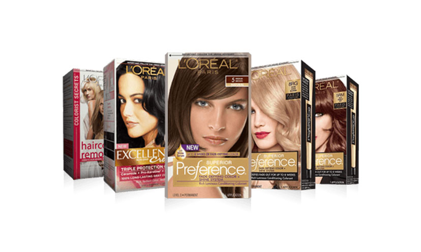 Get FREE L'Oreal Hair Dye Samples!