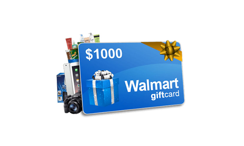 Enter to Win a $1,000 Walmart Gift Card!