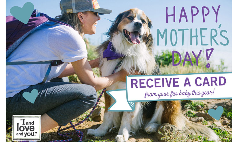 Get a FREE Pet Mother's Day Card!