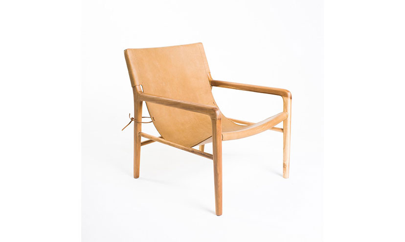 Enter to Win a Barnaby Leather Sling Armchair!