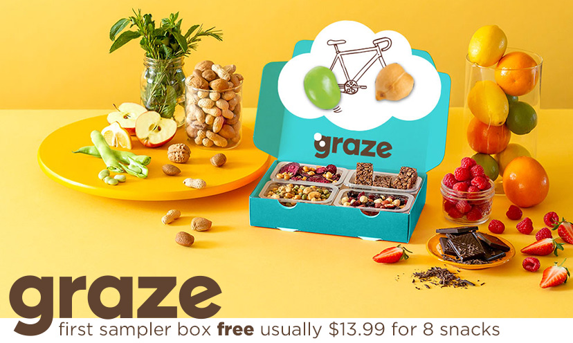 Get a FREE Sampler Box from Graze!