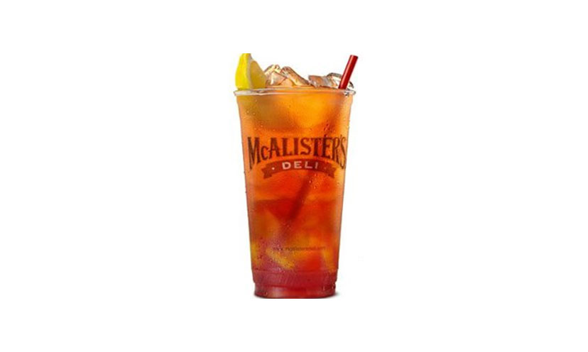 Get FREE Iced Tea at McAlister's Deli!