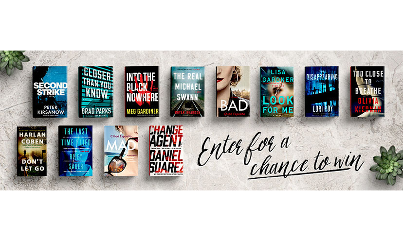 Enter to Win 12 Mystery Books!
