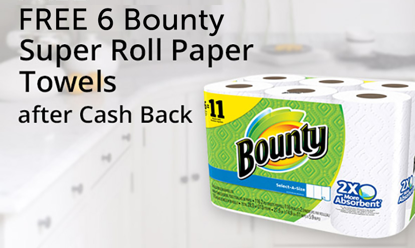 Get a FREE Pack of Bounty Paper Towels!