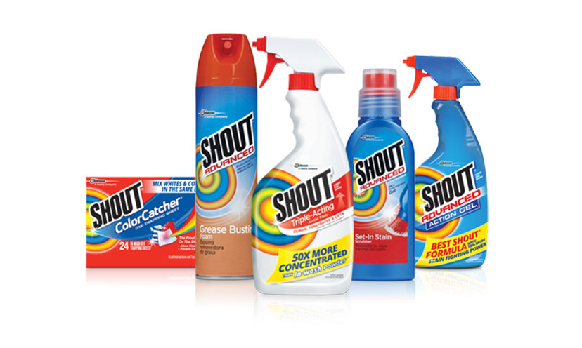 Save $1.00 on Two Shout Products!