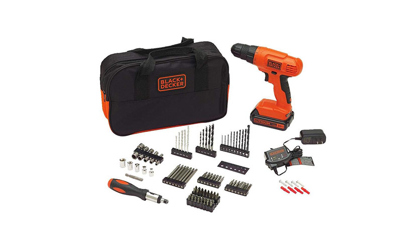 Save 32% on a Black and Decker Cordless Power Drill with 100 Accessories!