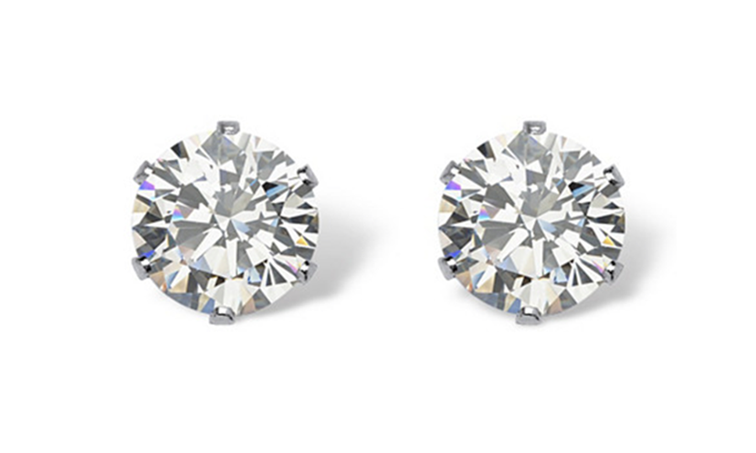 Get a Pair of Round Cubic Zirconia Stud Earrings!