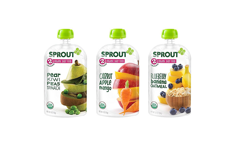 Save $4.00 on Sprout Organic Baby Food Pouches!